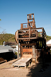 Gold Mining Stamp Mill, Marisposa Museum, Mariposa; California, USA.  Photo copyright Lee Foster.  Photo # california121548