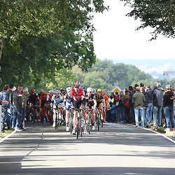 MUNSTER (GER) cycling  The last international race of the German cycling season is the Sparkasse Munsterland Giro. The start in 2016 was in Gronau and the finish after 20o km in Munster. Peloton chasing at the Coesfelder Berg with Marcel Sieberg