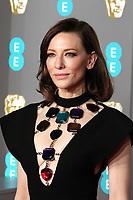 Cate Blanchett, EE British Academy Film Awards, Royal Albert Hall, London, UK, 10 February 2019, Photo by Richard Goldschmidt