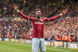 March 10, 2019 - Birmingham, England, United Kingdom - Tammy Abraham celebrates Jack Grealish of Aston Villas goal during the Sky Bet Championship match between Birmingham City and Aston Villa at St Andrews, Birmingham on Sunday 10th March 2019. (Credit Image: © Mi News/NurPhoto via ZUMA Press)