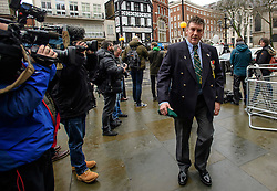 © Licensed to London News Pictures. 07/02/2017. London, UK. A former Royal Marines arrives at the Royal Courts of Justice in London where Sgt Blackman is due to start an appeal against his life sentence for the murder of a wounded Taliban fighter in Afghanistan in 2011.  Photo credit: Ben Cawthra/LNP