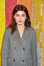 Sydney Lima at a cocktail supper hosted by BOTTLETOP co-founders Cameron Saul & Oliver Wayman, along with Arizona Muse, Richard Curtis & Livia Firth to launch the #TOGETHERBAND campaign at The Quadrant Arcade on April 24, 2019 in London, England.<br /> <br /> ***For fees please contact us prior to publication***