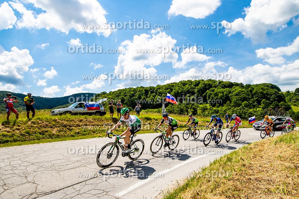 Jon IRISARRI RICON of CAJA RURAL-SEGUROS RGA, Raul GARCIA PIERNA of EQUIPO KERN PHARMA, Jaime CASTRILLO ZAPATER of EQUIPO KERN PHARMA, Jacob SCOTT of CANYON DHB SUNGOD and David PER of ADRIA MOBIL during 3rd Stage of 27th Tour of Slovenia 2021 cycling race between Brezice and Krsko (165,8 km), on June 11, 2021 in Slovenia. Photo by Matic Klansek Velej / Sportida