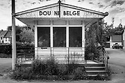 Bléharies, Belgium, 27 mai 2017, the closed douane Belge at quai de l'escaut (out of the series from ongoing project about scheldt and meuse)