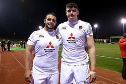 James Scott and Kai Owen of England U20 - Mandatory by-line: Robbie Stephenson/JMP - 22/02/2019 - RUGBY - Zip World Stadium - Colwyn Bay, Wales - Wales U20 v England U20 - Under-20 Six Nations