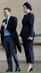 Liv Tyler arrives for the wedding of Princess Eugenie to Jack Brooksbank at St George's Chapel in Windsor Castle.
