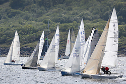 The Silvers Marine Scottish Series 2014, organised by the  Clyde Cruising Club,  celebrates it's 40th anniversary.<br /> Day 2, Sonata and IRC class 4 start, GBR8215N, Red Hot Poker, Murray Caldwell, Cove SC, GBR607, Wee Shamal, Callum Tuckett, Helensburgh SC, J80<br /> Racing on Loch Fyne from 23rd-26th May 2014<br /> <br /> Credit : Marc Turner / PFM