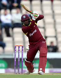 West Indies' Sunil Ambris during the fifth Royal London One Day International at the Ageas Bowl, Southampton.