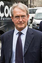 London, UK. 18 June, 2019. Owen Paterson, Conservative MP for North Shropshire, arrives at Parliament.