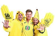 PERTH, AUSTRALIA - JANUARY 08:  Shaun Marsh, James Faulkner and Matthew Wade pose during the Australian ODI Squad - Series Capture Session at Sebel Residence on January 8, 2016 in Perth, Australia.  (Photo by Paul Kane - CA/Cricket Australia/Getty Images)
