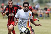 Waikato striker Maurie Wasi. NZFC Championship Soccer - Waikato v Canterbury, Centennial Park, Ngaruawahia. Sunday, 24 January 2010. Photo: Geoffrey Dickinson/PHOTOSPORT