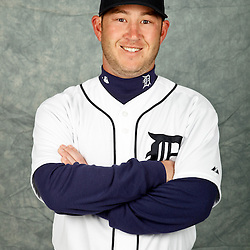 February 28, 2012; Lakeland, FL, USA; Detroit Tigers left fielder Matt Young (73) poses for photo day in the rec room at the Detroit Tigers Headquarters.  Mandatory Credit: Derick E. Hingle-US PRESSWIRE