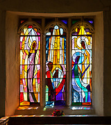 Stained glass window, design Rosemary Rutherford, Hinderclay church, Suffolk, by Surinder Warboys 1994