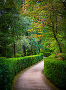 """The Gardens of Marqueyssac are located in the town of Vézac, in the French area of Dordogne, in the region of Nouvelle-Aquitaine. It is on the list of """"jardins remarquables de France"""" (remarkable gardens in France). The park of Château de Marqueyssac is a private estate of twenty-two hectares built around an 18th century castle. Its facilities are typical of what was done in France under Napoleon III.<br /> <br /> Built on a rocky spur 130 meters above the river, the park offers a view of the valley, castles and nearby villages, including Beynac-et-Cazenac, Fayrac, Castelnaud, La Roque-Gageac and Domme.<br /> <br /> In 2011, it was the third most visited tourist site in the Dordogne with 190,000 visitors."""