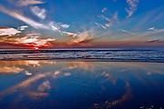 Southern California Coastline at Sunset