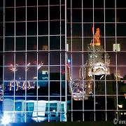 US Bank Reflection at Night