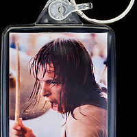 Simon Kirke - Key Fob with image approx. 35mm x 50mm from 1970 Isle of Wight Music Festival exhibition on the front. The reverse has an exclusive CameronLife  1970 IW festival design