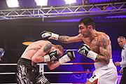 Boxen: Universum Boxpromotion, Fightnight, Hamburg, 24.04.2021<br /> WBA International-Titel, Leichtgewicht: Artem Harutyunyan (GER) - Vladyslav Melnyk (UKR)<br /> © Torsten Helmke