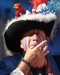 June 30, 2018 - Kazan, Russia - A fan of France cheers prior to the 2018 FIFA World Cup round of 16 match between France and Argentina in Kazan, Russia. (Credit Image: © Li Ga/Xinhua via ZUMA Wire)