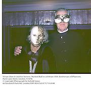 Vivian Clore & Jocelyn Stevens. Masked Ball to celebrate 10th Anniversary of Phantom. Park Lane Hotel, London. 9/10/96<br />© Copyright Photograph by Dafydd Jones<br />66 Stockwell Park Rd. London SW9 0DA<br />Tel 0171 733 0108