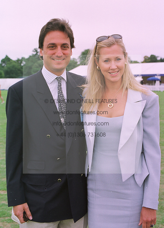 Model MISS KATRINA SKEPPER former good friend of the Duke of York and her fiancee COUNT ALLESANDRO GUERRINI-MARALDI, at a polo match in Berkshire on 26th July 1998.MJG 165