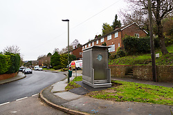 Local residents are both mystified and annoyed about the sudden appearance of a toilet for bus drivers that has been erected on the corner of Melody Road and Whitby Close in Biggin Hill, Kent. Biggin Hill, Kent, December 06 2018.