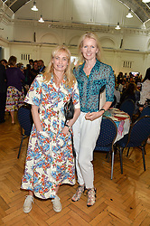 Left to right, CLEMENTINE FRASER and JOANNE CASH at a lunch in aid of the charity African Solutions to African Problems (ASAP) held at the Royal Horticultural Hall, Vincent Square, London on 19th May 2016.