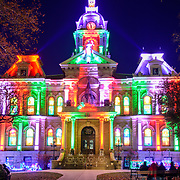 Guernsey County Courthouse Holiday Light Show