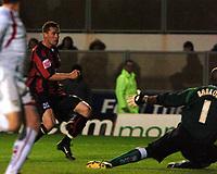 Photo: Tony Oudot.<br /> Milton Keynes Dons v Shrewsbury Town. Coca Cola League 2. Play off Semi Final 2nd Leg. 18/05/2007.<br /> Andy Cooke scores his second for Shrewsbury
