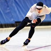 September 18, 2010 - Kearns, Utah - Josh Wood races in long track speedskating time-trials held at the Utah Olympic Oval.