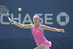 August 22, 2017 - New York, New York, United States - Anna Blinkova of Russia returns ball during qualifying game against Whitney Osuigwe of USA at US Open 2017 (Credit Image: © Lev Radin/Pacific Press via ZUMA Wire)