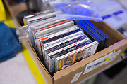 Dreamcast games waiting to be tested at the GameStop retro classics console games refurbishment center in Grapevine, Texas on June 24, 2015. (Cooper Neill for Mashable)