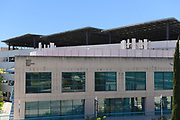 The Mesa Arts Building and Parking Garage with Solar Panels on Campus at University of California Irvine, UCI