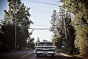En route to Healdsburgh, CA, behind a Chevy fairlane 500 on River Road 116, California on River Road 116, California, 2009.