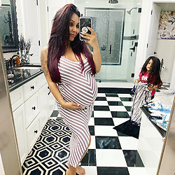 """Nicole Polizzi releases a photo on Twitter with the following caption: """"""""Which Snooki Shop Dress should I wear for my Sprinkle this weekend?! Even though they aren't maternity , they provide stretch &amp; comfort! <br /> https://t.co/yxSfUCnTqe"""""""". Photo Credit: Twitter *** No USA Distribution *** For Editorial Use Only *** Not to be Published in Books or Photo Books ***  Please note: Fees charged by the agency are for the agency's services only, and do not, nor are they intended to, convey to the user any ownership of Copyright or License in the material. The agency does not claim any ownership including but not limited to Copyright or License in the attached material. By publishing this material you expressly agree to indemnify and to hold the agency and its directors, shareholders and employees harmless from any loss, claims, damages, demands, expenses (including legal fees), or any causes of action or allegation against the agency arising out of or connected in any way with publication of the material."""