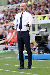 April 29, 2018 - Florence, Florence, Italy - 29th April 2018, Stadio Artemio Franchi, Florence, Italy; Serie A Football, Fiorentina versus Napoli; coach Stefano Pioli of Fiorentina reacts after his team missing a goal opportunity  Credit: Giampiero Sposito/Pacific Press (Credit Image: © Giampiero Sposito/Pacific Press via ZUMA Wire)
