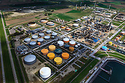 Nederland, Zeeland, Gemeente Vlissingen, 09-05-2013; Sloegebied (Vlissingen-Oost), raffinaderij Zeeland Refinery, produdent van onder andere LPG, benzine, kerosine, diesel en stookolie.<br /> Zeeland Refinery, produces LPG, gasoline, kerosene, diesel and fuel oil.<br /> luchtfoto (toeslag op standard tarieven);<br /> aerial photo (additional fee required);<br /> copyright foto/photo Siebe Swart.