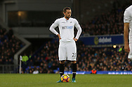 Gylfi Sigudsson of Swansea City gets ready to take a free kick. Premier league match, Everton v Swansea city at Goodison Park in Liverpool, Merseyside on Saturday 19th November 2016.<br /> pic by Chris Stading, Andrew Orchard sports photography.