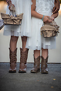 Country chic flower girls at a Woodside Mounted Patrol wedding in Woodside, CA by Kristina Cilia Photography