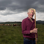 Former Scottish rugby international John Jeffrey at his farm - Kerksnowe Farm near Kelso, Scotland.   Picture Robert Perry for Country Life 9th June 2020