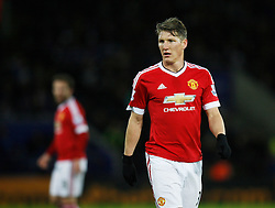 Bastian Schweinsteiger of Manchester United  - Mandatory byline: Jack Phillips/JMP - 07966386802 - 28/11/2015 - SPORT - FOOTBALL - Leicester - King Power Stadium - Leicester City v Manchester United - Barclays Premier League