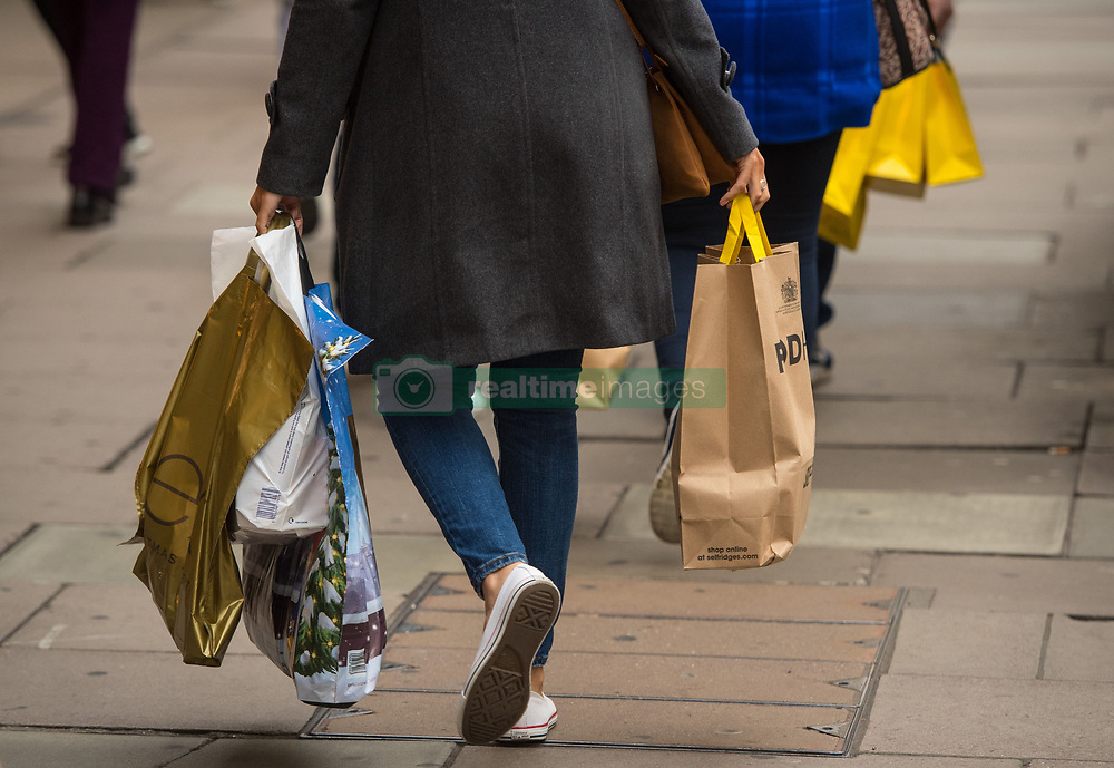 Shoppers on Oxford Street, in central London, on the final Saturday before Christmas.