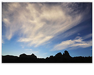 Paint brush clouds in the early morning at beautiful Sedona Arizona, USA