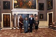 Koning Willem Alexander reikt Erasmusprijs 2016 uit aan  aan Britse schrijfster A.S. (Antonia Susan) Byatt.<br /> <br /> King Willem Alexander awards the  Erasmus Prize 2016 to British writer A.S. (Antonia Susan) Byatt.<br /> <br /> Op de foto / On the photo: <br />   Koningin Maxima, mevrouw A.S. Byatt, koning Willem-Alexander en prinses Beatrix <br /> <br /> Queen Maxima, Ms. A.S. Byatt, King Willem-Alexander and Princess Beatrix