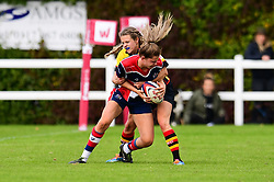 Lillian Stoeger of Bristol Ladies  is tackled by Tess Braunerova of Richmond ladies - Mandatory by-line: Craig Thomas/JMP - 17/09/2017 - Rugby - Cleve Rugby Ground  - Bristol, England - Bristol Ladies  v Richmond Ladies - Women's Premier 15s