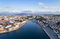 Oversiktsbilde over Stavanger og Byfjorden.