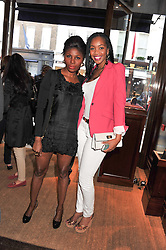 Left to right, CHANTALE JOSEPH and SANAIPEI NTIMAMA at a shopping evening hosted by Kola Karim to celebrate the sport of polo with leading polo player Nacho Figueras at Ralph Lauren, 1 New Bond Street, London on 16th May 2013.