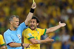 Fred na partida entre Brasil e Espanha válida pela final da Copa das Confederações 2013, no estádio Maracanã, no Rio de Janeiro. FOTO: Jefferson Bernardes/Preview.com