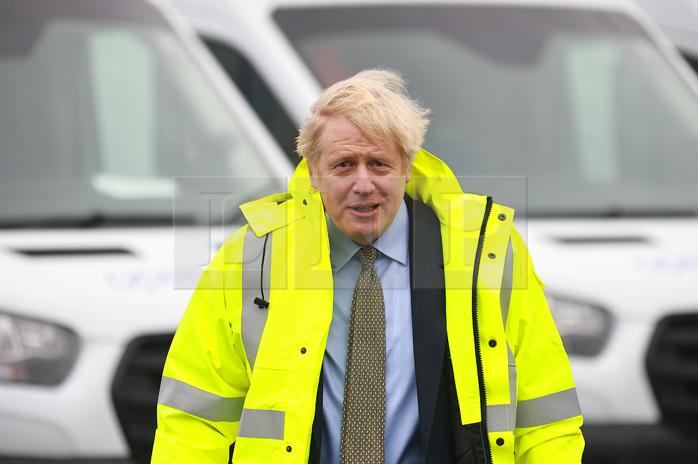 © Licensed to London News Pictures. 18/12/2020. Manchester, UK. British Prime Minister BORIS JOHNSON visits the Open Reach Bolton Training Centre in Bolton . Photo credit: Joel Goodman/LNP