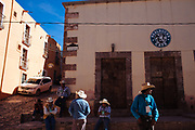 Tour guides in Real de Catorce.